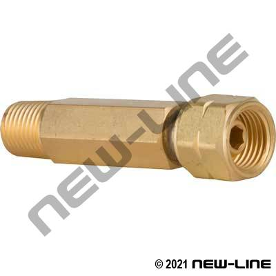 "Acetylene B LH Swivel Nut x 1/4"" Male NPT Adapter"