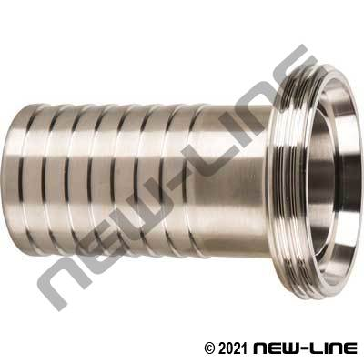 304SS Male DIN Threaded Sanitary Hose Stem