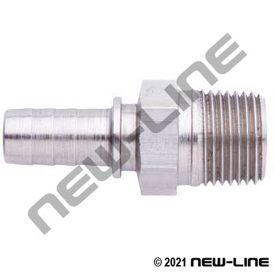 Hose X Male NPT 303SS Grease Hose Stem
