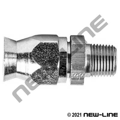 Stainless PTFE Field Attachable x Male NPT Solid