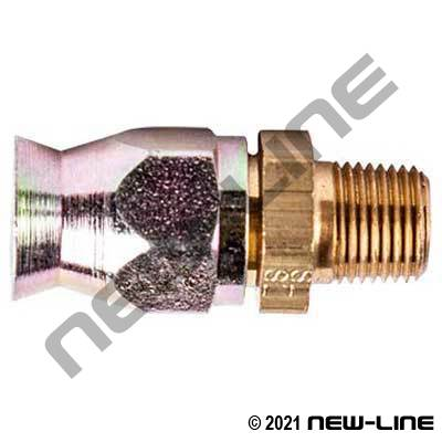 Brass PTFE Field Attachable x Male NPT Solid