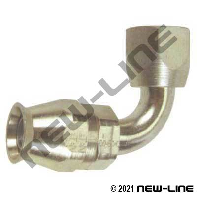 Brass PTFE Field Attachable x Female SAE 90°