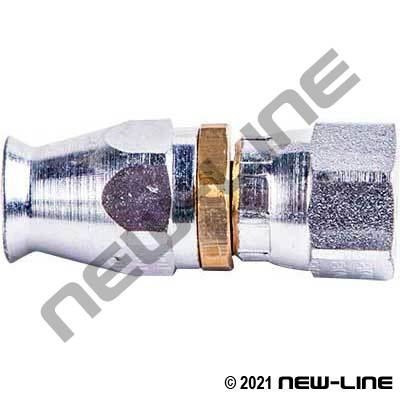 Brass PTFE Field Attachable x Female JIC Swivel