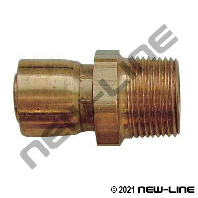 R14 Brass 1-pc Crimp x Male NPT Solid