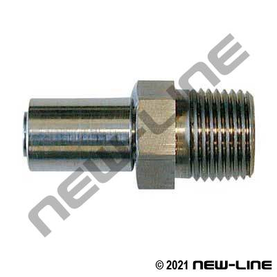 PFA/ETFE Stainless Crimp x Male NPT (For N542 Hose)