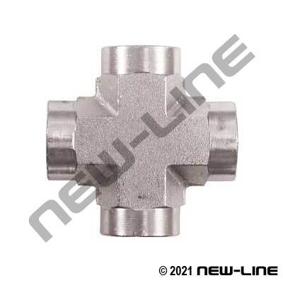Female NPT Cross - 10,000 PSI