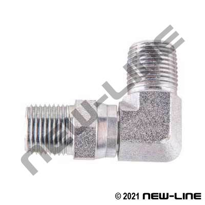 Male NPT X Male NPT Swivel 90°