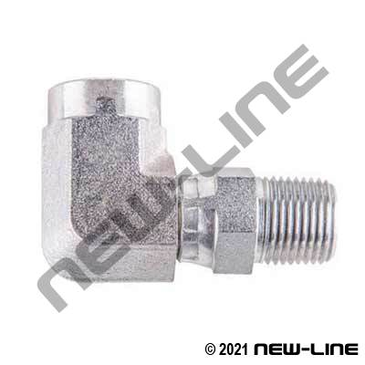 Female NPT X Male NPT Swivel 90°