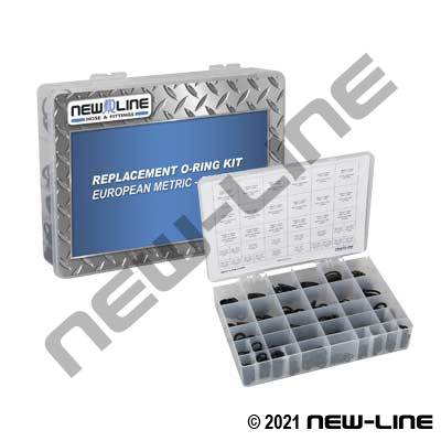 European Metric Replacement O-Ring Assorted Kit (500 pcs)