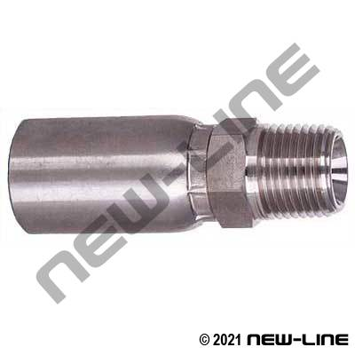 Stainless Crimp x Male NPT