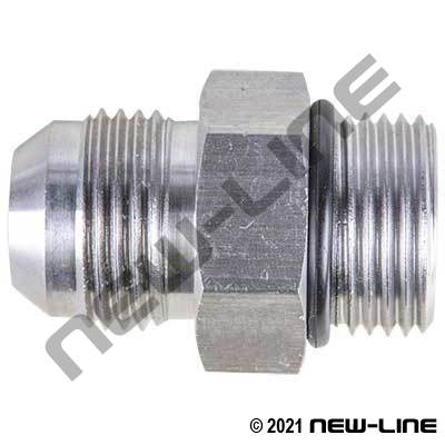 Stainless Steel Male JIC x Male ORB Straight Adapter