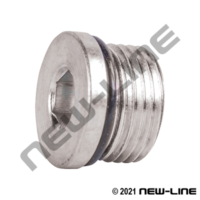Stainless Steel ORB Hollow Hex Plug