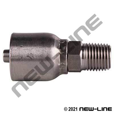 Stainless Steel 43 Series Crimp x Male NPT Solid