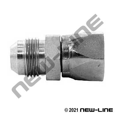 Stainless Steel MJIC x FJIC Straight Swivel Coupling