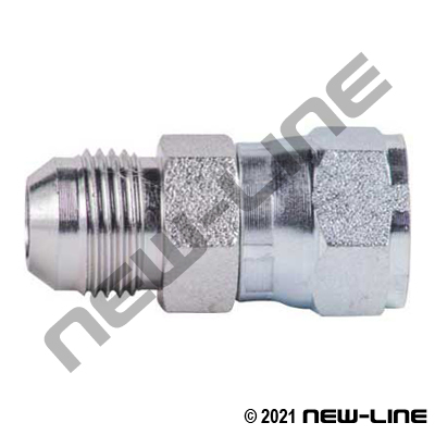 Male JIC X Female JIC Straight Swivel Coupling