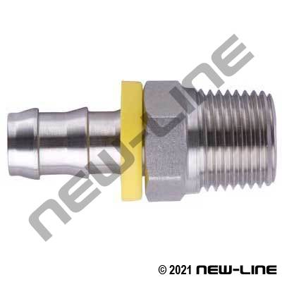 Stainless Steel Push-On x Male NPT Solid