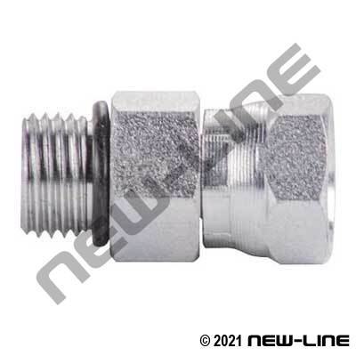 Male ORB x Female NPSM Straight Swivel Coupling