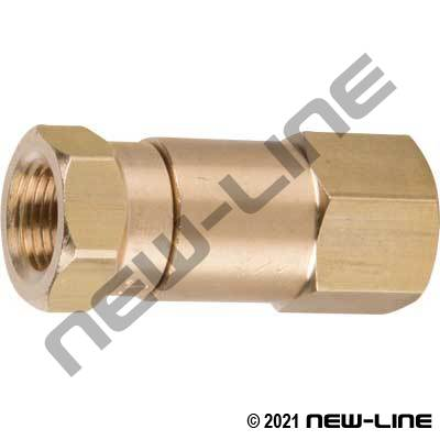 Brass Female NPT x Female NPT In-Line Swivel