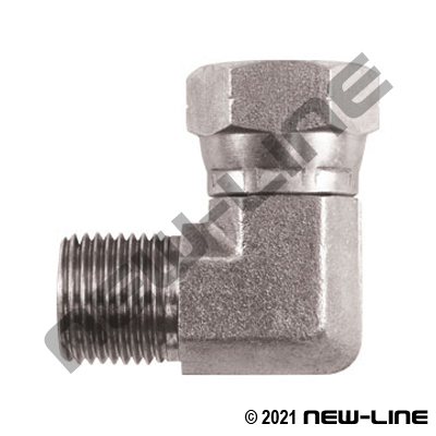 Male BSPT x Female BSPP Swivel 90°