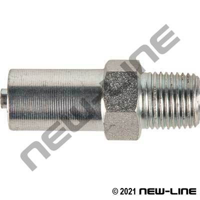 Crimp X Male NPT 2 Pc Plated Steel (For Grease Hose)