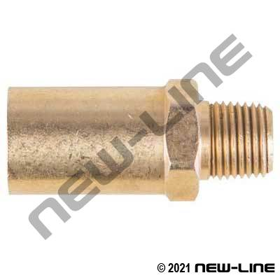 Crimp X Male NPT Brass (For Grease Hose)