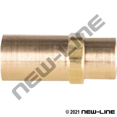 Crimp X Female NPT Solid Brass (For Grease Hose)