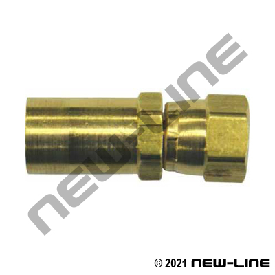 Crimp X Female JIC Swivel Brass (For Grease Hose)