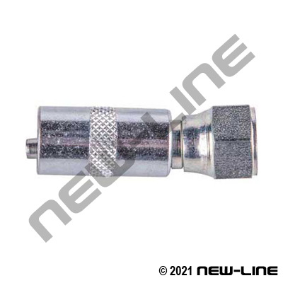 Crimp X Female JIC 2 Pc Plated Steel (For Grease Hose)