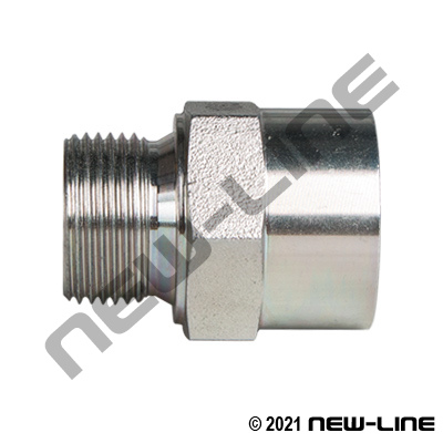 Male Metric x Female NPT Straight Adapter