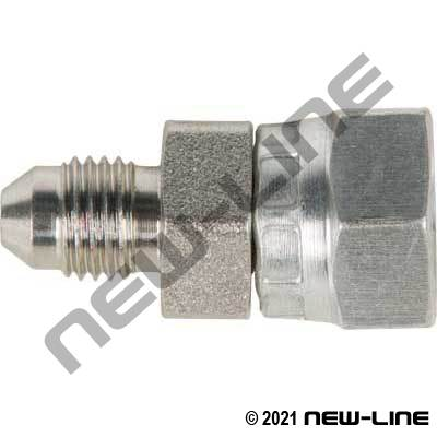 Male JIC X Female BSPP Straight Swivel Coupling