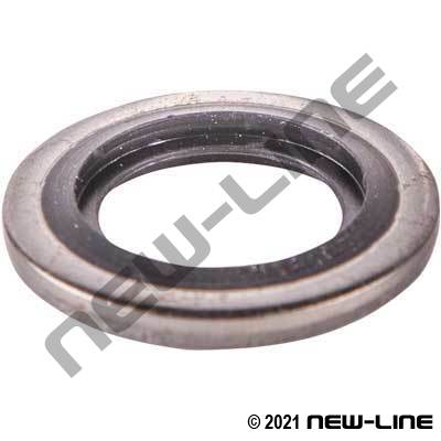Stainless BSPP Bonded Buna Seal