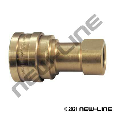Brass Hydraulic 7241-1B Coupler X Female NPT