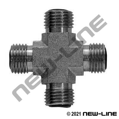 Stainless Steel Male ORFS Cross