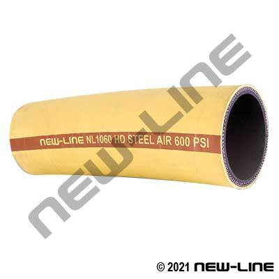 Yellow Heavy Duty Steel / Wire Reinforced Air Hose
