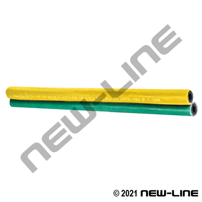Yellow / Green Twin Refueling Deadman Sensing Hose