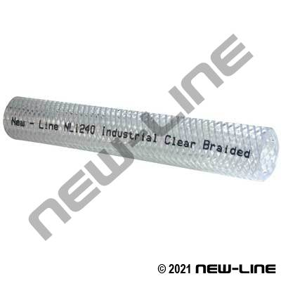 Industrial Clear Braided PVC Hose