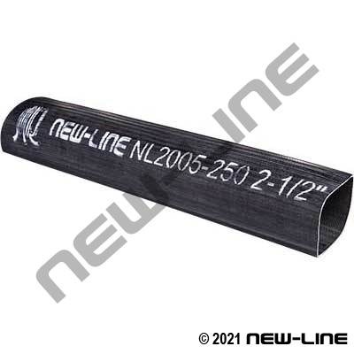 Black Rubber Ribbed Layflat Water Discharge Hose