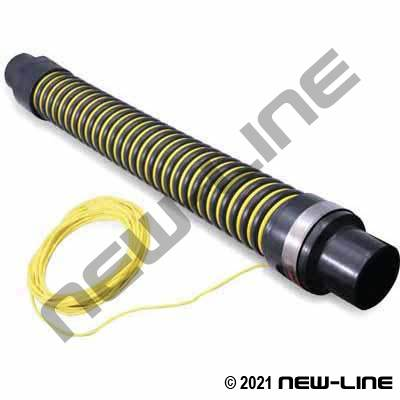 3Ft Yellow / Black Sewer Hose Guide with Rope