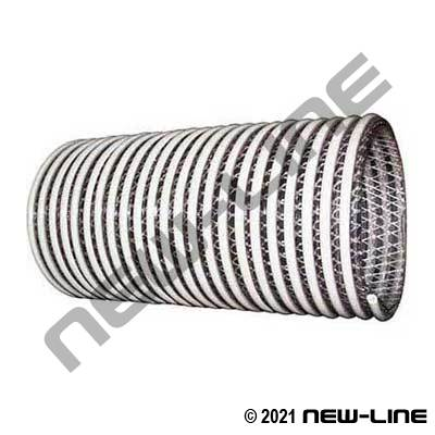Corrugated Clear Braided PVC Transfer Hose - Heavy Wall
