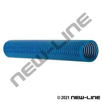 Low-Temp Clear/Blue Smooth PVC Transfer Hose