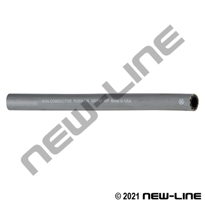 Grey Rubber Push-On Hose