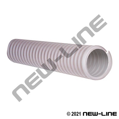 Smooth Clear/White PVC Food Transfer Hose