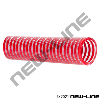Smooth Clear/Red PVC Food Transfer Hose (Special Colour)