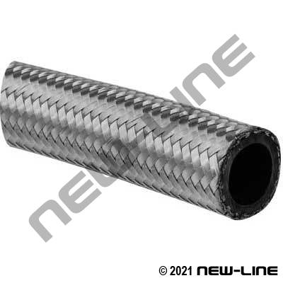 SAE100R14 PTFE Lined Stainless Braided/Black Conductive Tube