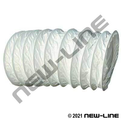 White Light Duty Air Vent & Blower Hose