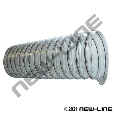 Clear PVC Light Duty CVD Ducting with Wire Helix
