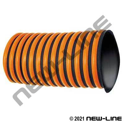 Black/Orange Thermoflex RFH-W Ducting/External Wear Strip