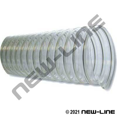 Clear Ufd Urethane Blower Ducting With Wire Helix