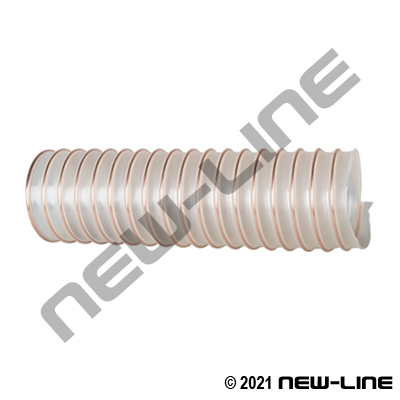 "Clear Urethane Blower Ducting 0.040"" Wall, Wire Helix"