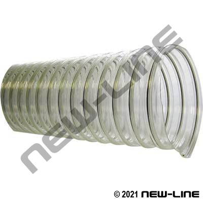 Clear UFD Static Dissipating Urethane Ducting
